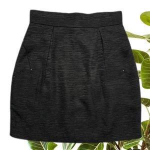 Bec & Bridge Womens Skirt Size 8 Black Textured